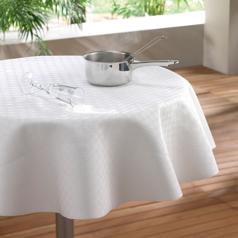 Sous nappe (0) 135 cm pvc uni bulgo Blanc