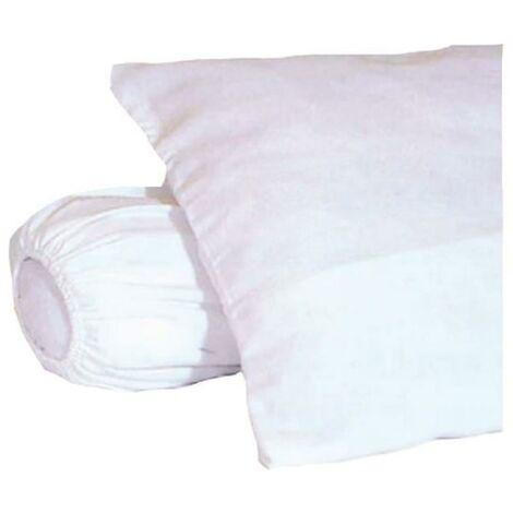 sous-taie d'oreiller molleton 100% coton gratte 60x60 cm blanc