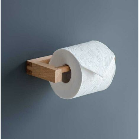 Southbourne Wooden Beech Bathroom Cloakroom Toilet Roll Holder Wall Mounted