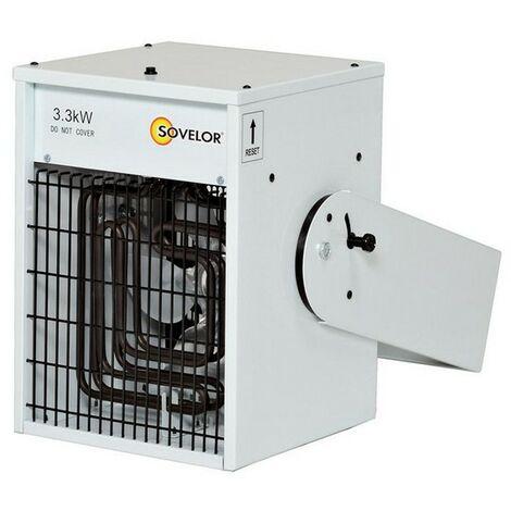 Sovelor - Aerotermo eléctrico 3,3kW 470 m3/h con caja de control termostática - TR3C