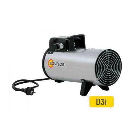 Sovelor - Chauffage air pulsé électrique portable inox 230V~1 50 Hz 3 kW - D3I