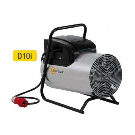 Sovelor - Chauffage air pulsé électrique portable inox 380V~3 50 Hz 10 kW - D10I