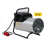 Sovelor - Chauffage air pulsé électrique portable inox 380V~3 50 Hz 15 kW - D15I