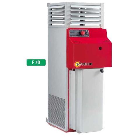 Sovelor - Chauffage air pulsé fixe vertical avec brûleur fuel à combustion indirecte Puissance élec. 1550W - F70