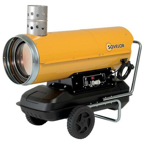 Sovelor - Chauffage air pulsé mobile au fuel à combustion indirecte (avec cheminée) 34 kW 2150 m3/h 230V - HPV35