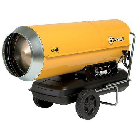 Sovelor - Chauffage Air pulsé mobile au fuel sur roues combustion directe 111Kw 230V/50Hz - HP110