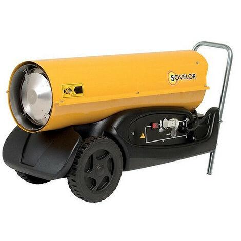 Sovelor - Chauffage Air pulsé mobile au fuel sur roues combustion directe 300W 230V/50Hz - HP30