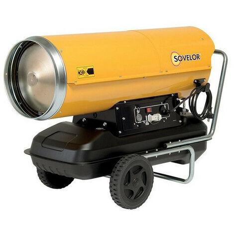 Sovelor - Chauffage Air pulsé mobile au fuel sur roues combustion directe 800W 230V/50Hz - HP65