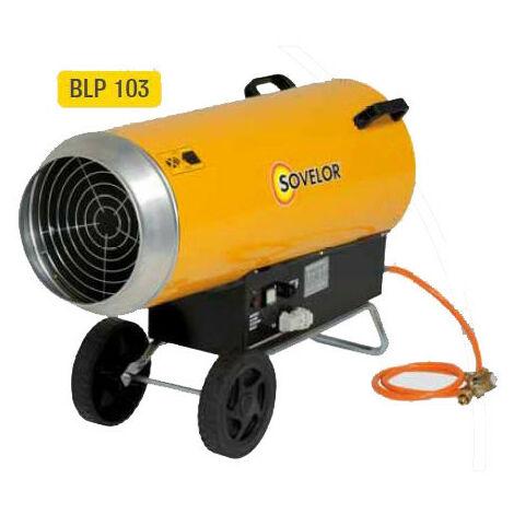 Sovelor - Chauffage air pulsé mobile gaz propane à combustion directe allumage automatique 220W - BLP103E