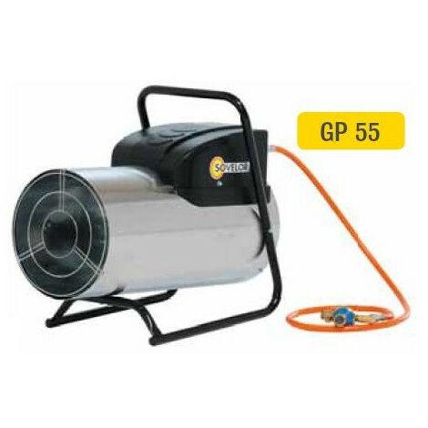 Sovelor - Chauffage air pulsé mobile inox gaz propane à combustion directe allumage automatique Puissance élec. 112W - GP55AI