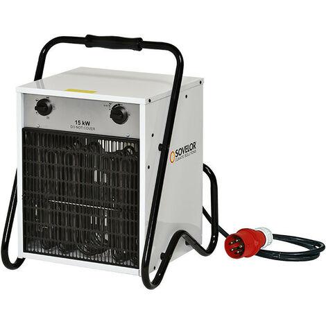 Sovelor - Chauffage Air pulsé portable électrique 15kW 380V~3 50 Hz - B15C