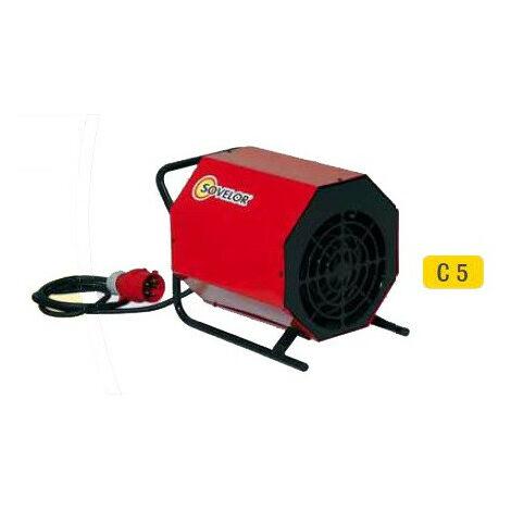 Sovelor - Chauffage air pulsé portable électrique 380V~3 50 Hz 5 kW - C5/S