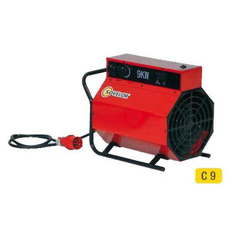 Sovelor - Chauffage air pulsé portable électrique 380V~3 50 Hz 9 kW - C9/S0