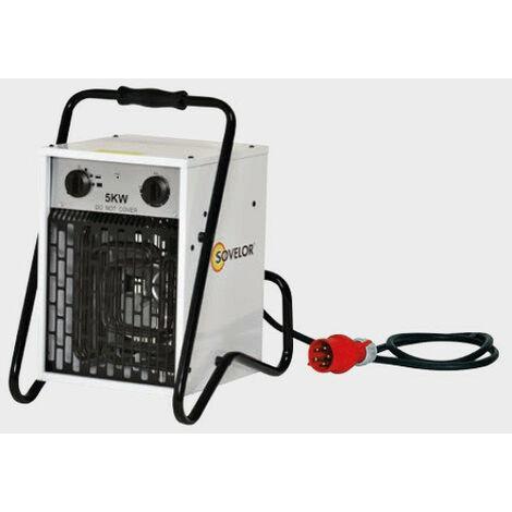 Sovelor - Chauffage Air pulsé portable électrique 5kW 380V~3 50 Hz - B5C