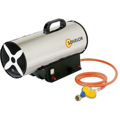 Sovelor - Chauffage Air Pulsé portable gaz propane allumage manuel 16kW 230V - MG170