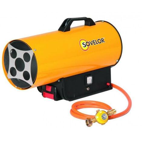 Sovelor - Chauffage air pulsé portable gaz propane avec batterie 0.16 kW - BLP17MDC