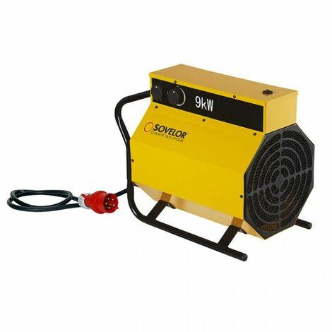 SOVELOR Chauffage électrique portable air pulsé Triph. 9Kw - C9
