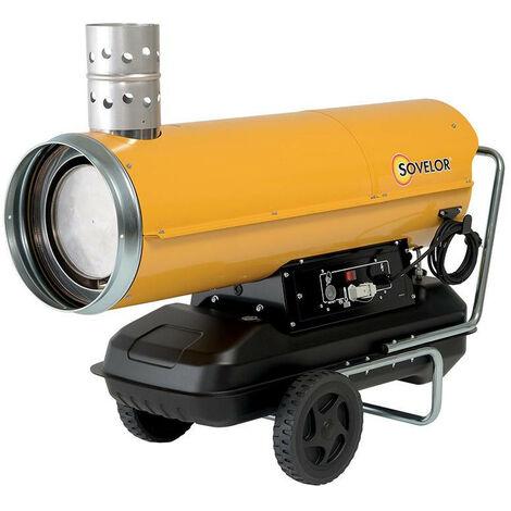 Sovelor - Chauffage mobile à air pulsé au fuel 49 kW 2150 m3/h Fuel ou Gasoil ou GNR - HPV55