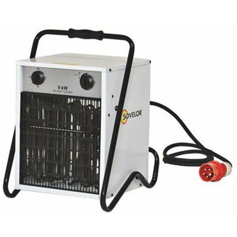 Sovelor - Chauffage Portable air pulsé électrique 9kW 7740Kcal/H 800 m3 /H - B9C