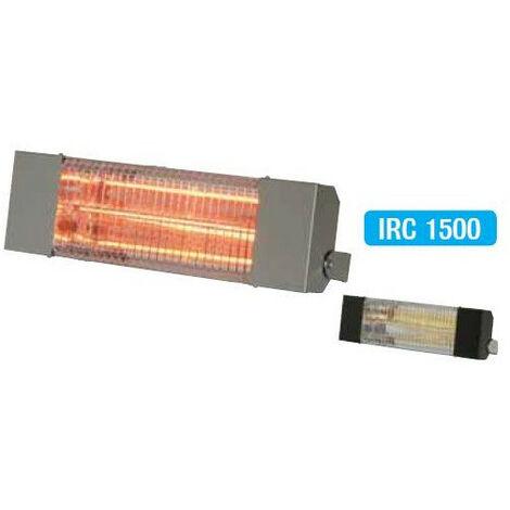 Sovelor - Chauffage radiant électrique inox infrarouge halogène quartz 1500W - IRC1500CI