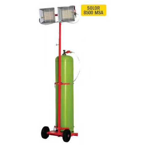 Sovelor - Chauffage radiant mobile Gaz Butane ou Propane 8400W - SOLOR8500MSA