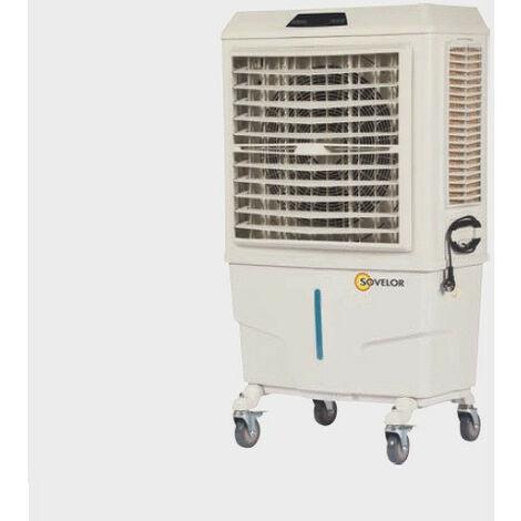 Sovelor - Climatiseur évaporatif mobile sur roue 8000 m3/h 230V pour 40 à 80 m2 - COLD80