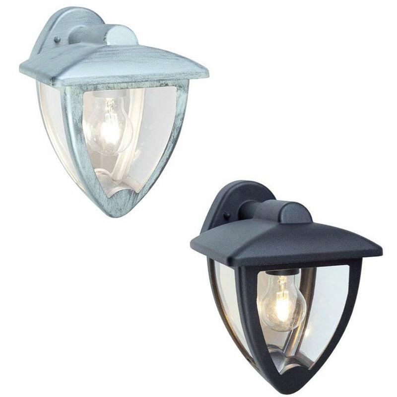 Applique Esterno in Basso Lampada Parete Muro Lanterna Nero Bianca Stelt Sovil - Colore: Nero