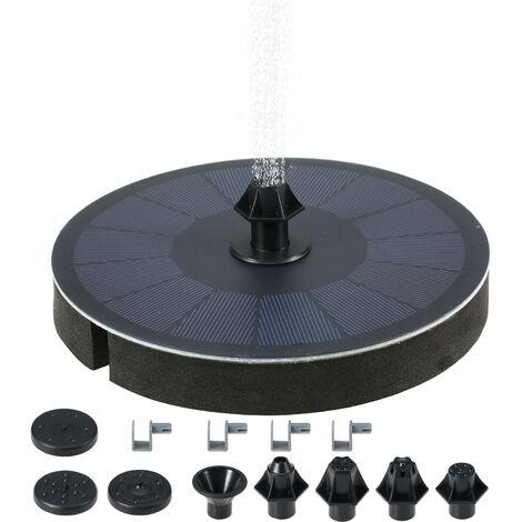 SP01B fontaine solaire 3W / 7V flottante exterieure fontaine flottante d'eau de piscine 900mAh batterie