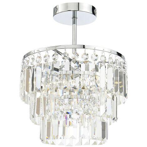 Spa Belle Crystal Chisel Cut Bars Light Flush