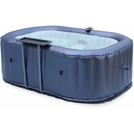 """main image of """"Spa gonflable compact 2 personnes avec table latérale. tapis de sol. bâche. couvercle gonflable et télécommande de contrôle incluse"""""""