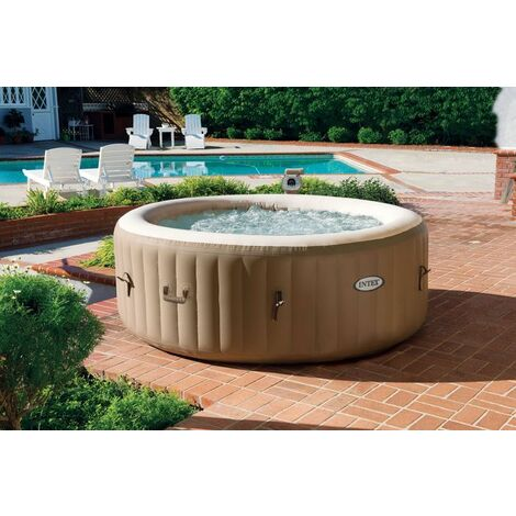 spa gonflable intex purespa bulles 4 personnes rond 28404ex. Black Bedroom Furniture Sets. Home Design Ideas