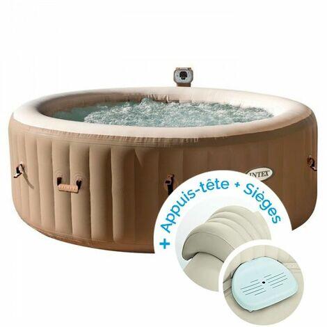 spa gonflable intex purespa bulles 4 personnes 2 appuis. Black Bedroom Furniture Sets. Home Design Ideas
