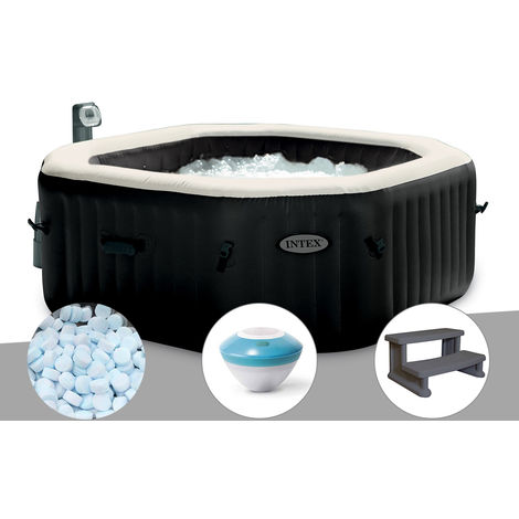 Spa gonflable Intex PureSpa octogonal Bulles et Jets 6 places