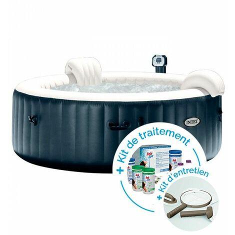 spa gonflable intex purespa plus bulles 6 personnes kit. Black Bedroom Furniture Sets. Home Design Ideas