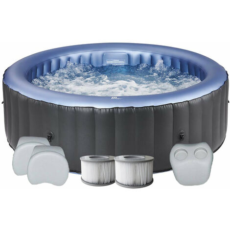 Spa gonflable jacuzzi rond 4 places D-SC04 Silver cloud + set confort + 2 filtres supplémentaires Mspa