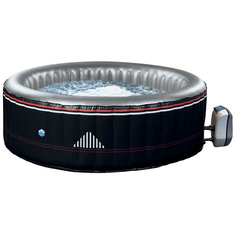 Spa gonflable NetSpa MONTANA - 4 places - Dimensions extérieur 175 x H 70 cm - PVC laminé avec finition similicuir