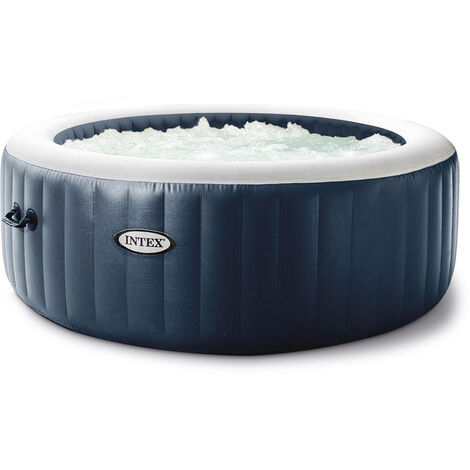 Spa gonflable PureSpa Blue Navy rond Bulles 4 places - Intex