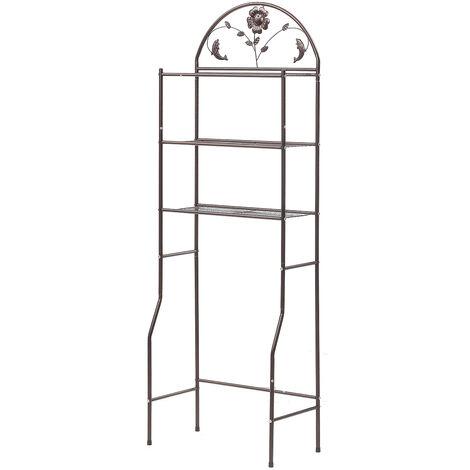 Space Saver Over The Toilet Rack Bathroom Corner Stand Storage Organizer Cabinet Tower Shelf 62*32*180cm Brown