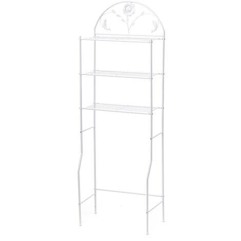 Space Saver Over The Toilet Rack Bathroom Corner Stand Storage Organizer Cabinet Tower Shelf 62*32*180cm White