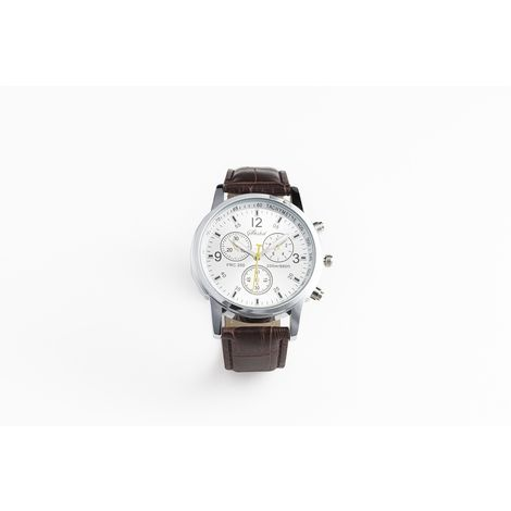 SPACEFLIGHT Herrenuhr mit Lederband, sportliche Luxus Uhr mit Edelstahl Gehäuse, günstige Analoguhr mit edlem Lederarmband, Zifferblatt 3,7 x 1 cm , Band 24 x 1,9 cm
