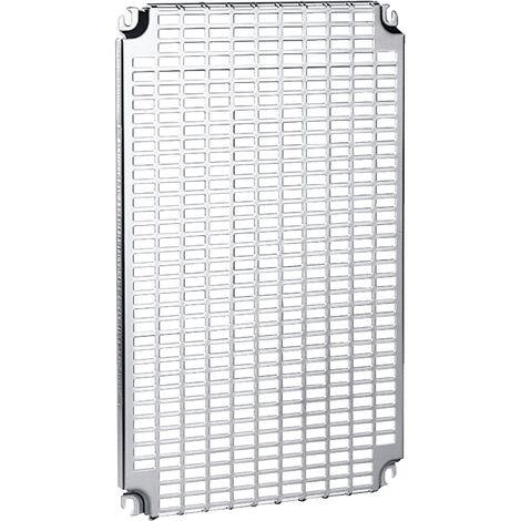 Spacial - ch ssis perforé Telequick - acier - pour coffret H=300xL=300mm - NSYMR33