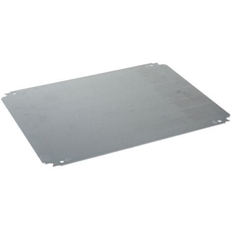 Spacial - ch ssis plein - acier galvanisé - pour coffret H=500xL=500mm - NSYMM55