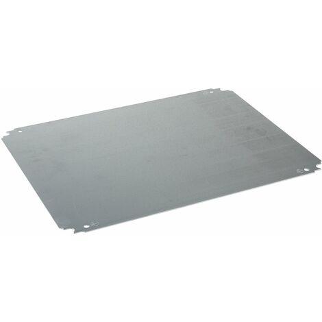 Spacial - ch ssis plein - acier galvanisé - pour coffret H=600xL=500mm - NSYMM65