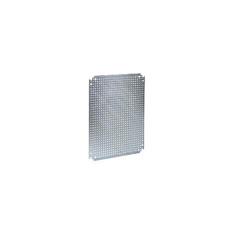 Spacial - châssis microperforé - acier galvanisé - pour coffret H=600xL=600mm - NSYMF66