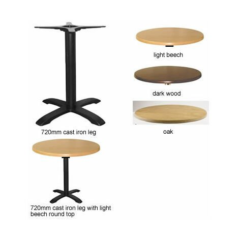 Spador Round Dining Table With Cast Iron Leg - Beech
