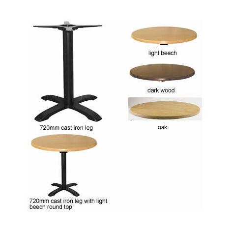 Spador Round Dining Table With Cast Iron Leg - Dark Wood