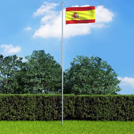 Spain Flag and Pole Aluminium 6,2 m