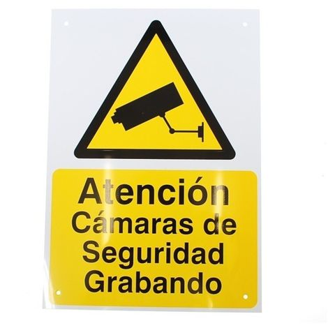 Spanish A4 External CCTV Warning Sign [002-0502]