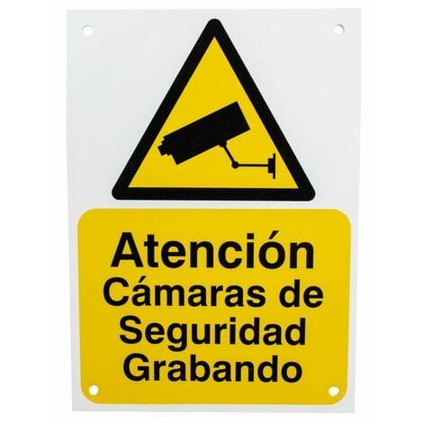 Spanish A5 External CCTV Warning Sign [002-0532]