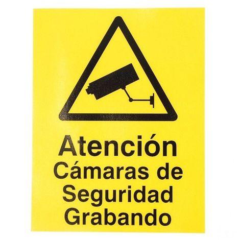 Spanish CCTV Warning Window Sticker [002-0542]